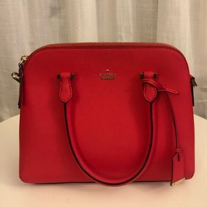 Kate Spade New York Maise Satchel Purse in Red